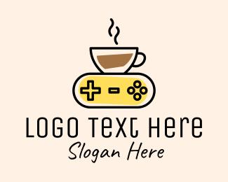 Console - Coffee Game Console logo design