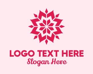 Petals - Pink Petals Pattern logo design