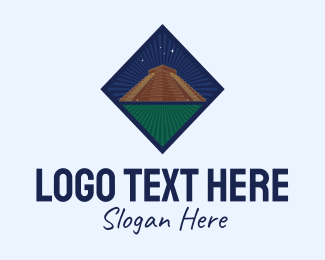 Landmark - Mayan Temple Landmark logo design