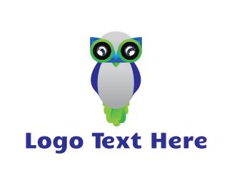 Spy - Owl Robot logo design