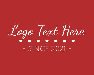 Text - Valentine's Day Text logo design