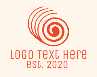 Bakestore - Orange Twisted Roll logo design