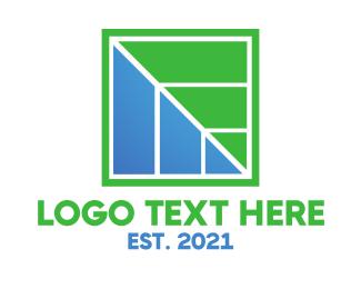 Square - Square Leaf logo design