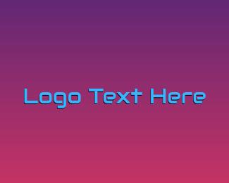 Advanced Technology - Futuristic Wordmark logo design