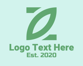 Restaurant - Simple Green Leaf  logo design