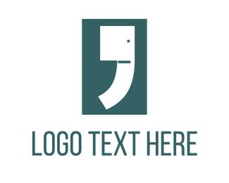 Blogging - Elephant Comma logo design