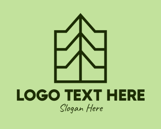 Travel - Green Geometric Mountain logo design
