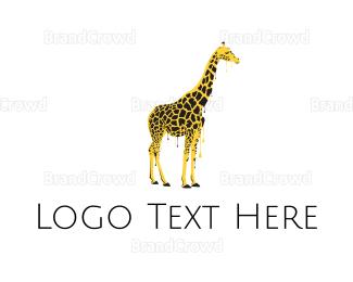 Graffiti - Painted Giraffe logo design
