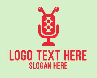 Microphone - Ladybug Microphone logo design