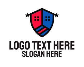 Builder - Shield House Builder logo design