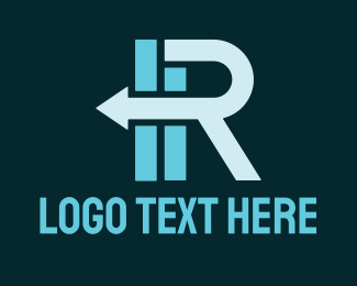Finance - Logistic Arrow Letter R  logo design