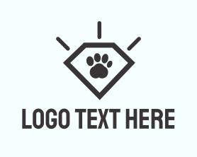 Puppy - Paw Diamond logo design