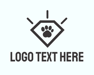 Kitten - Paw Diamond logo design