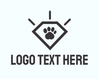 Diamond - Paw Diamond logo design
