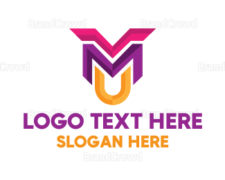 Edgy - Multicolor Edgy Letter M logo design