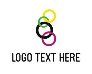 Fidget Spinner - Colorful Chain logo design