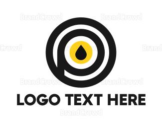 Petroleum - Black & Yellow Drop  logo design
