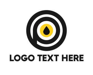 Diesel - Black & Yellow Drop  logo design