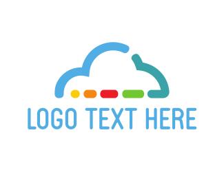 Hi-tech - Colorful Cloud logo design
