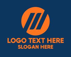 Financial - Orange Financial Bars logo design