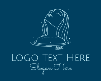 Shampoo - Blue Water Lady  logo design