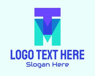 Mt - Geometric TM Lettermark logo design