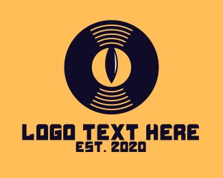 Album - DJ Vinyl Eye logo design