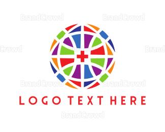 Hospital - Cross Mosaic logo design