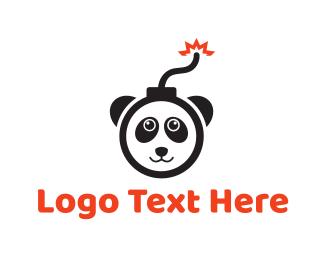 Eruption - Explosive Panda Bomb logo design