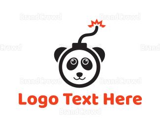 Explode - Explosive Panda logo design