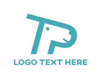 Pet Shop - Blue Dog Cartoon logo design