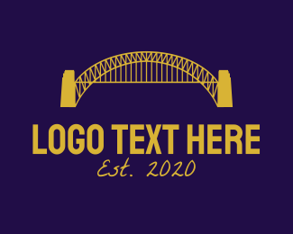 Sydney - Blue Harbour Bridge logo design