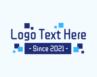 """Pixelated Tech Wordmark"" by brandcrowd"