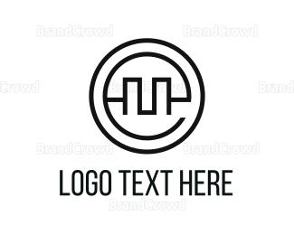 Outlines - Circle Letter E logo design