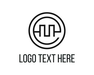 Letter E - Circle Letter E logo design