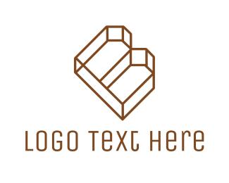 Structure - Letter B Outline logo design