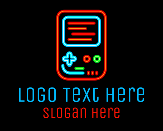 Squad - Neon Handheld Gaming logo design