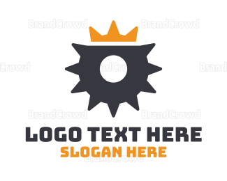 Engineer - Cog Crown logo design