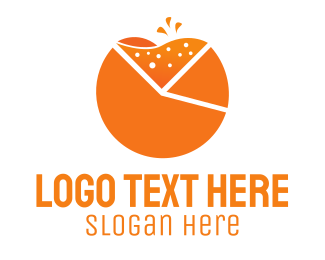 Orange Juice - Fresh Chart logo design
