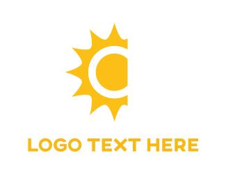System - Yellow Sun  logo design