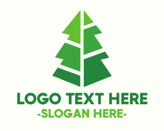 Modern Christmas Tree Logo