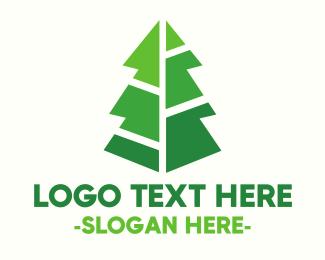 Modern Christmas Tree Logo