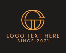 Company - Golden Letter G logo design