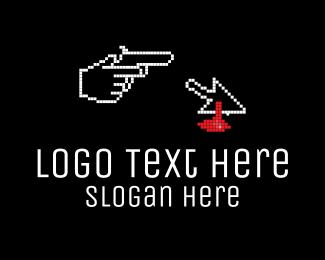 Gun - Pixel Murder logo design