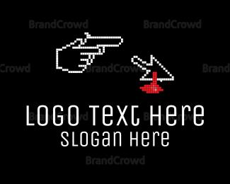 Bitmap - Pixel Murder logo design