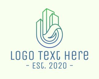 Corporation - Gradient Corporate Buildings logo design