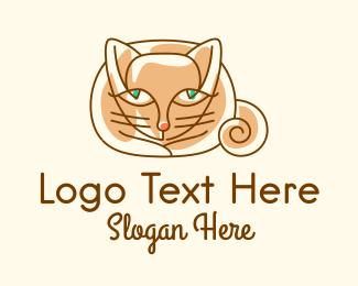 Cats - Siamese Cat logo design