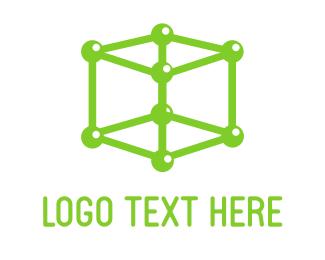 Space - Atom Cube logo design