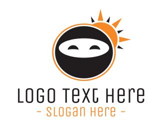 Ninja - Sun Ninja logo design