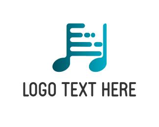 Dj - Digi Music logo design